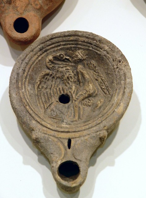 Roman oil lamp, Leda and the swan, Burdur Museum