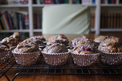 Raspberry and Chocolate Muffins DSC09941
