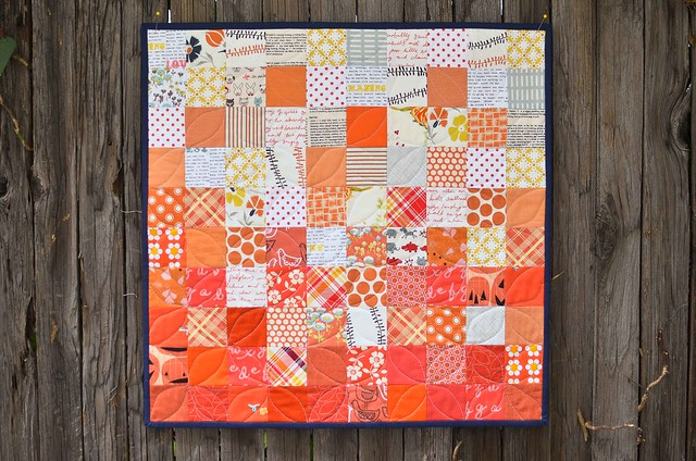 orange! mini quilt
