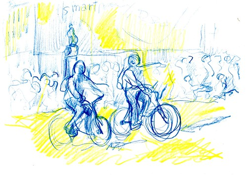 ciclistas sin casco