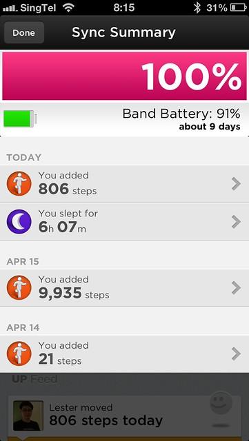 Jawbone UP iOS App