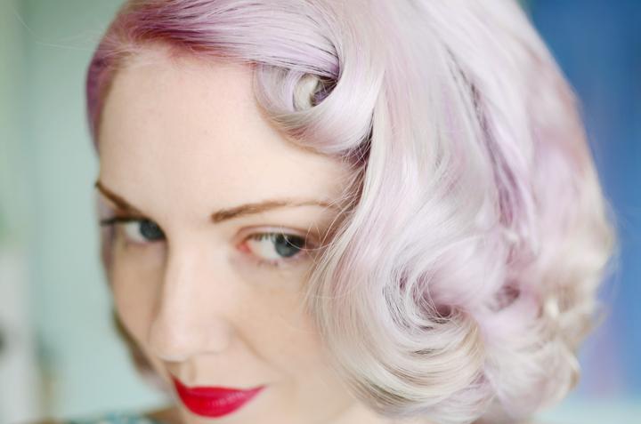 lilac curls pin curl set e