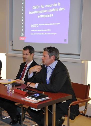 De gauche à droite : Régise Berségol, TF1, et Ludovic Tassy, Afflelou