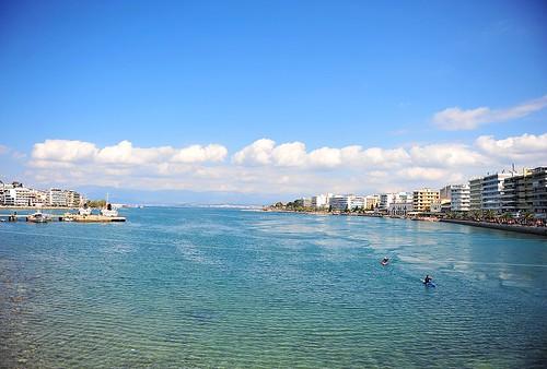 bridge blue sea sky house landscape nikon view greece 2470 sakalak d700 σακαλάκ σίφισ
