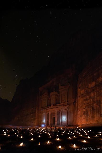 Stars above the Treasury