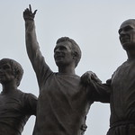 The United Trinity, George Best, Denis Law and Bobby Charlton