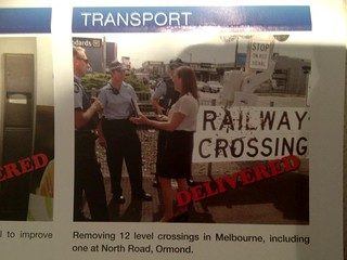 "Ormond level crossing grade separation ""delivered"" according to local MP - not the last time I looked"