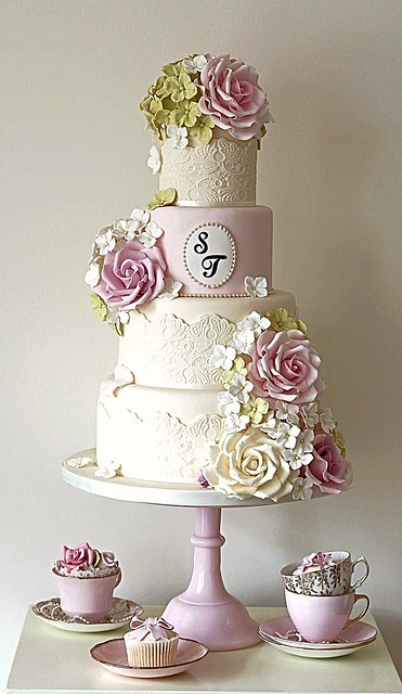 pink rose garden wedding cake country garden wedding cake flickr photo 18583