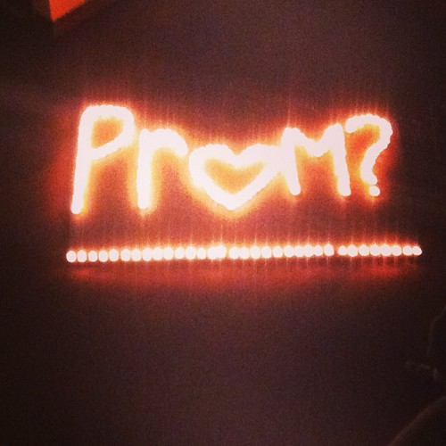 How my 17 yr old just asked a girl to Prom. 200 tealight candles!