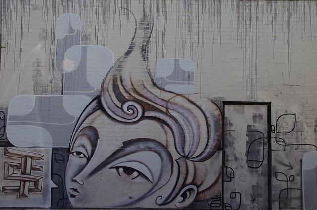 almost monochrome minimalist delicate Adelaide street art