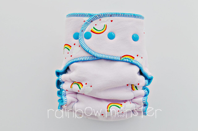 I ❤ Rainbows SERGED ★Mega OS★ Turquoise CV