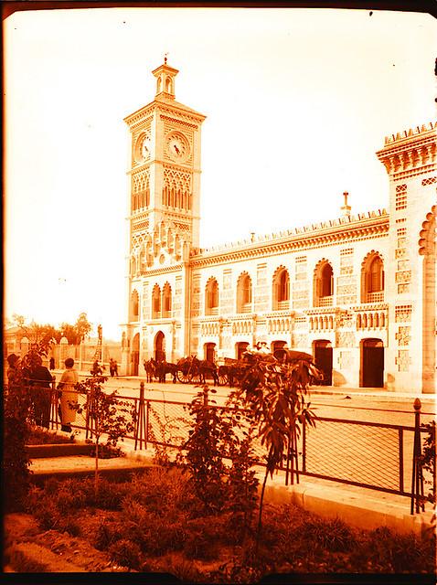 Estación de Ferrocarril. Fotografía de Pedro Román © Fondo Rodríguez. Archivo Histórico Provincial. JCCM. Signatura R-140-3-02