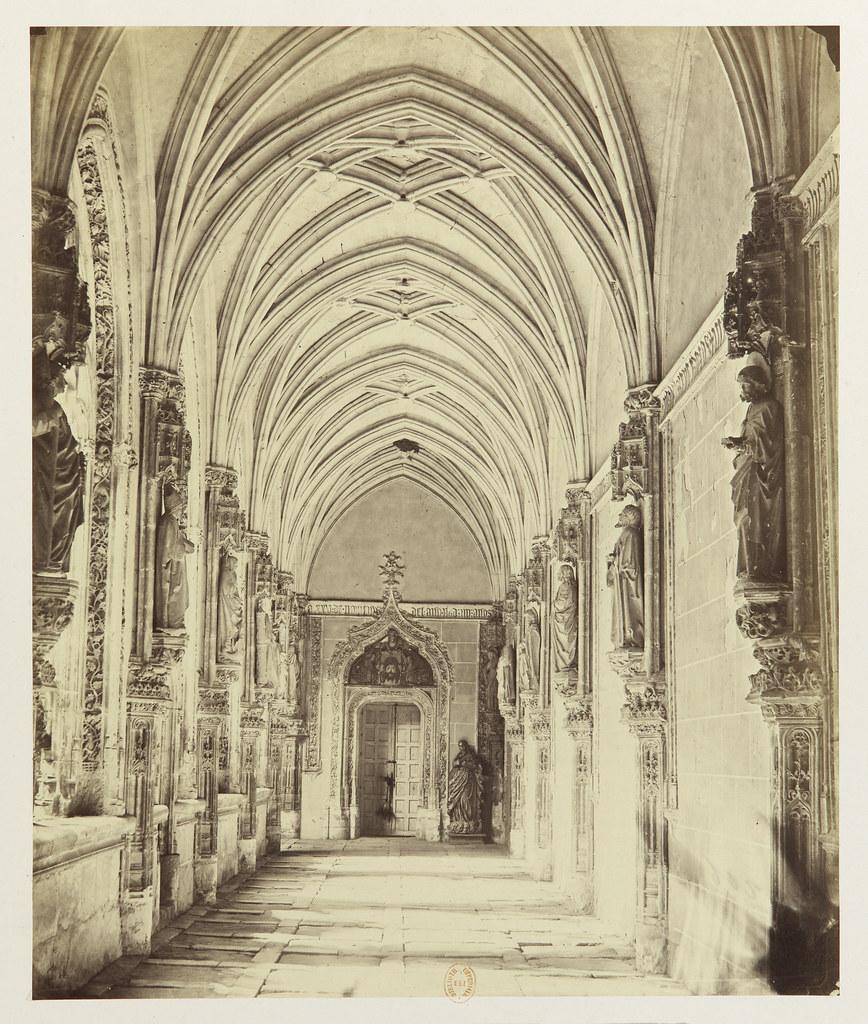 Claustro de San Juan de los Reyes hacia 1858. Fotografía de Louis Léon Masson © Bibliothèque Nationale de France