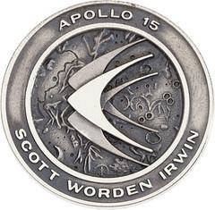 Lot 40086 Apollo 15 medal obverse