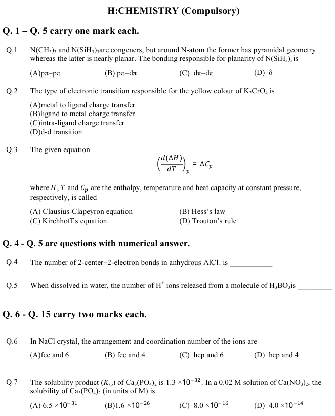 GATE 2013 Question Papers with Answers   Life Sciences [XL]   gate  Image