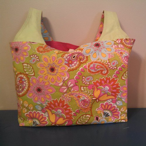 Spring reusable shopping bag