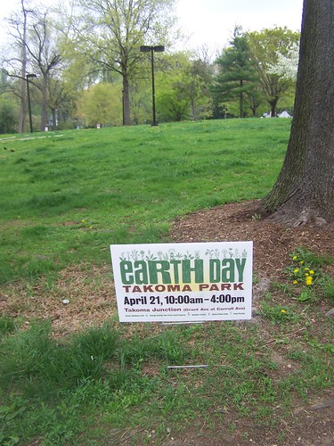 Earth Day 2013 yard sign, Takoma Park, Maryland