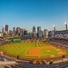 Fisheye view of the PNC Park and the Pittsburgh skyline HDR by Dave DiCello