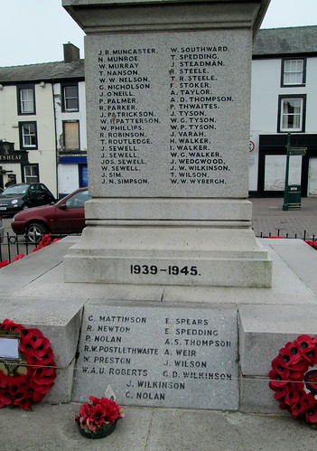 Egremont War Memorial WW2 Plaque