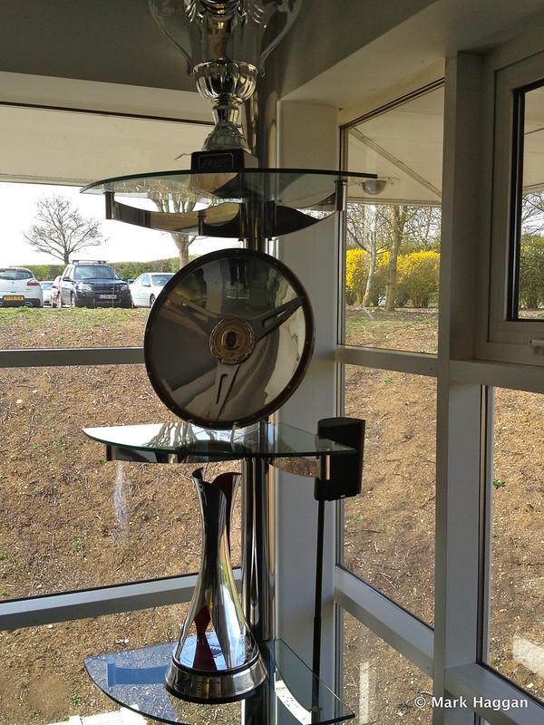 Trophies at Lotus F1 Headquarters