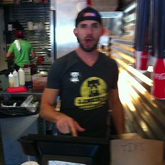 @schiffmania working the cash register at Liberty Cheesesteaks for GWA night  #onlyattulane #tulane