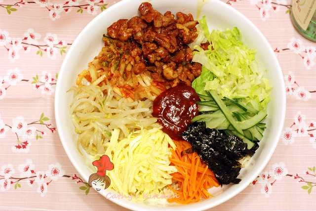 韓式泡菜豬肉拌飯  BiBimBap 3