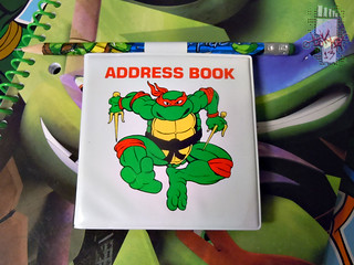 NOTEWORTHY :: TEENAGE MUTANT NINJA TURTLES 'MINIATURES'; ADDRESS BOOK i (( 1990 ))