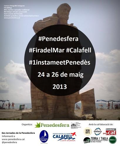 Cartell 6es Jornades de la Penedesfera: #FiradelMar #Calafell #1instameetPenedès