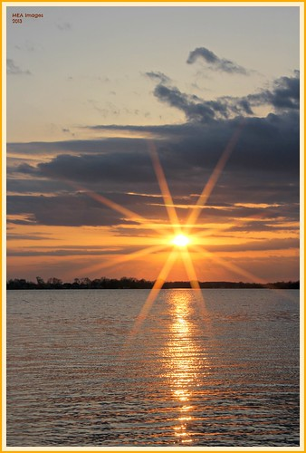 sunset sun reflection nature water wisconsin clouds canon spring sunburst rays sunsrays waterscape waterscene foxlake canoneos60d picmonkey picmonkey:app=editor merleearbeen meaimages