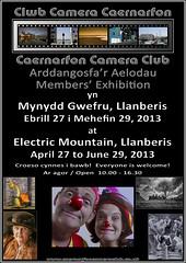 Caernarfon Camera Club Exhibition Poster by Paul Sivyer