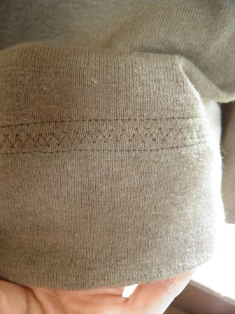 Brown Knit Tee hem detail