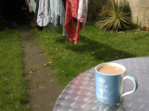 The first outdoor cuppa, this year