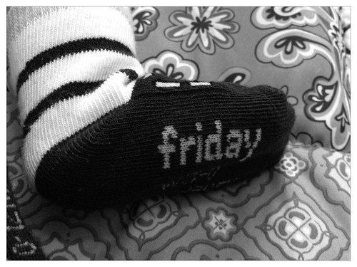 Maybe if I wear my Friday socks the weekend will come sooner?