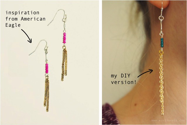 diy ae earrings