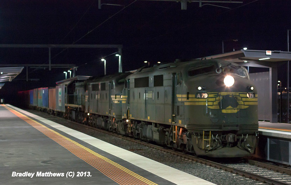 A79-A81-X49 with #9462 up Maryvale Paper Train at Cardinia Rd Station (30/4/2013) by Bradley Matthews