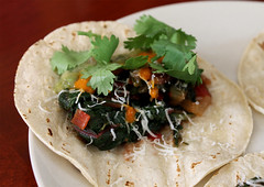 Swiss Chard and Onion Tacos
