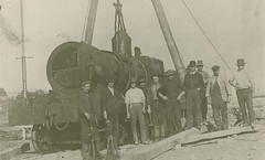Class Z13 (CC) locomotive being assembled at Glebe Island (NSW)