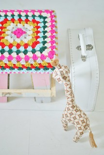wood & wool baby stool 062