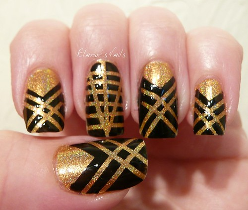 art deco tape nails 4