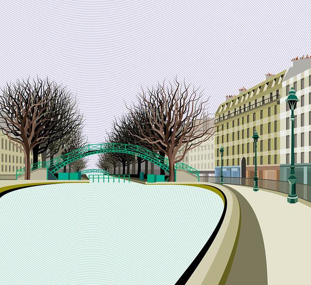 Cityscape Series : Canal Saint-Martin.