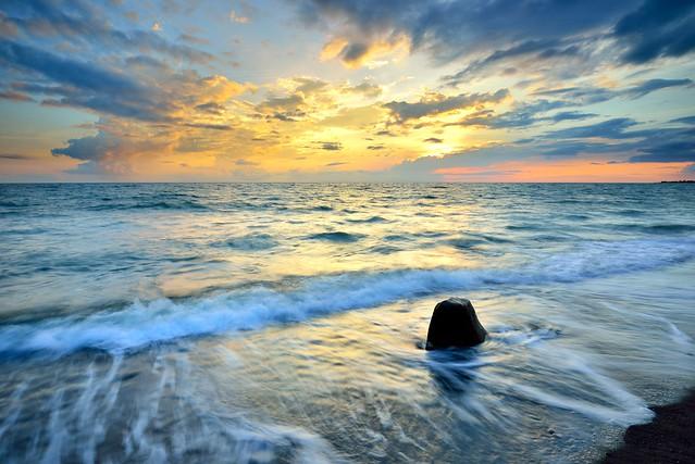 夕與浪 Sunset and Waves@枋山