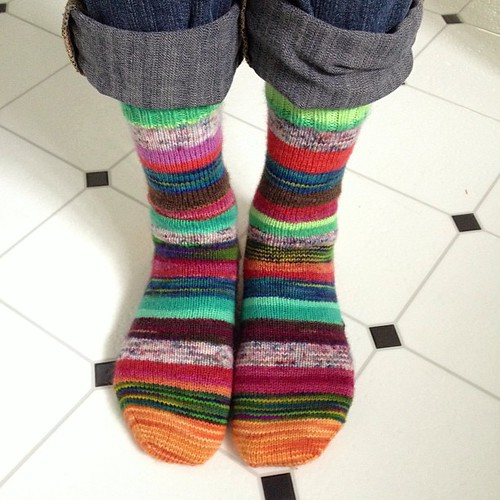 Scrappy socks finished pair #4/13 :)