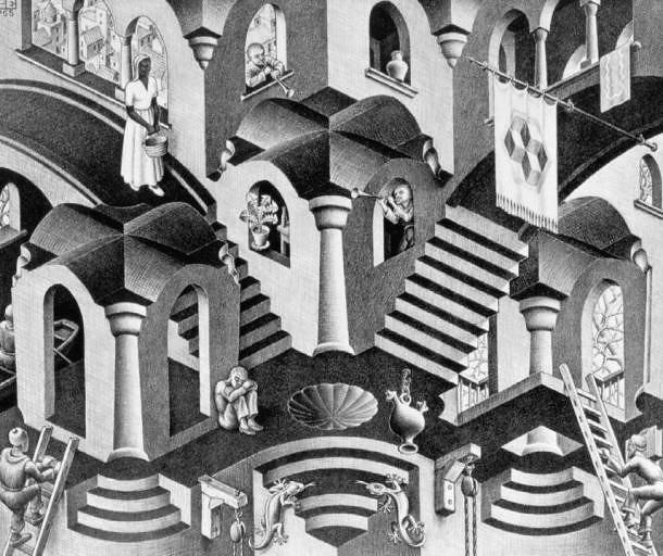 Escher, cóncavo - convexo