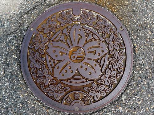 Tatsuruhama Ishikawa, manhole cover (石川県田鶴浜町のマンホール)