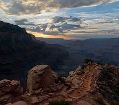 South Kaibab trail sunset. Grand Canyon NP