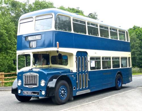 YNU 351G 'Midland General Omnibus Company' No. 313 Bristol FLF Lodekka / Eastern Coach Works on 'Dennis Basford's railsroadsrunways.blogspot.co.uk'
