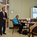 """Rep. Fred Camillo addresses the crowd during a discussion at the senior center titled: """"When your home poses a risk"""" to help seniors make their homes safer."""