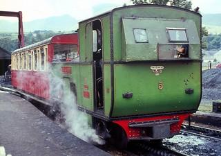 Snowdon Mountain Railway Locomotive 5, Llanberis, circa 1967.
