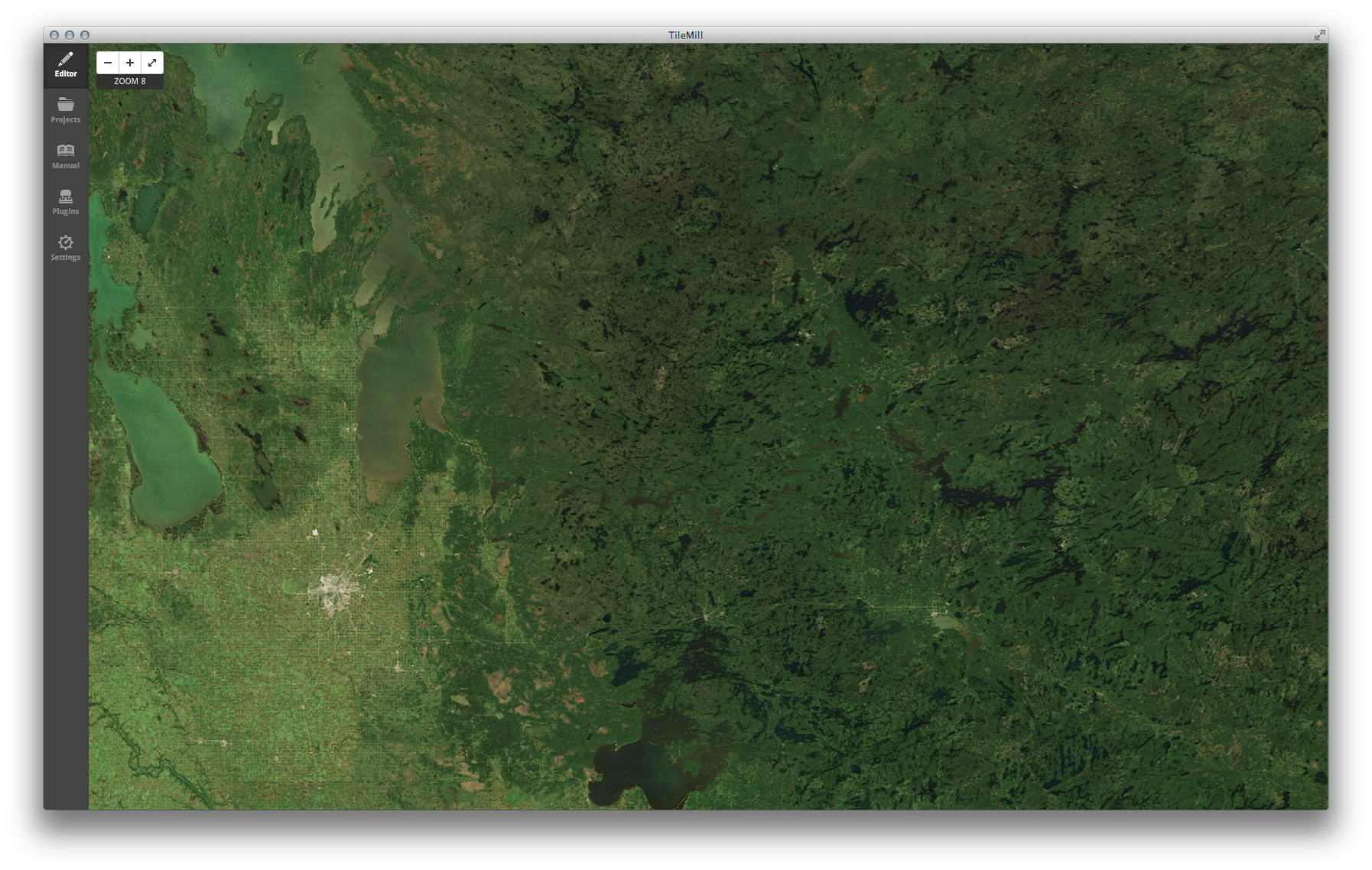 Winnipeg, Canada (latitude 49.9, longitude −91.1