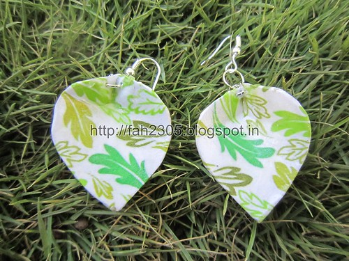 Handmade Jewelry - Card Paper Earrings  (40) by fah2305